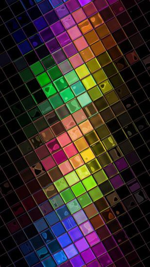 Colorful HD Squares Disco Ball Android Wallpaper ...