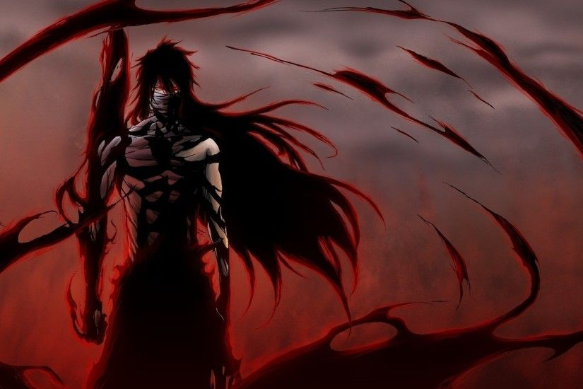 Preview wallpaper anime, bleach, ichego, posture, wind, background 1920x1080