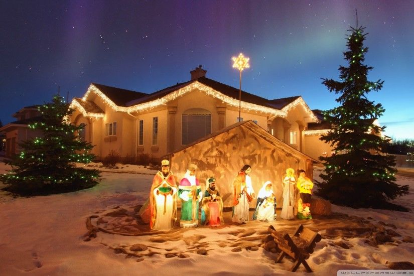 Outdoor Christmas Nativity Scen · outdoor_christmas_nativity_scene-wallpaper -1920x1200