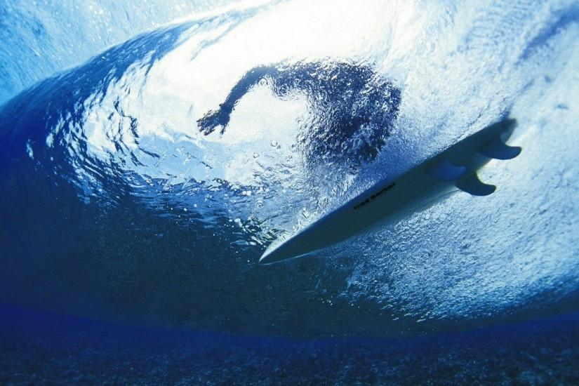 Preview wallpaper surfing, surfer, water, depth 2560x1440