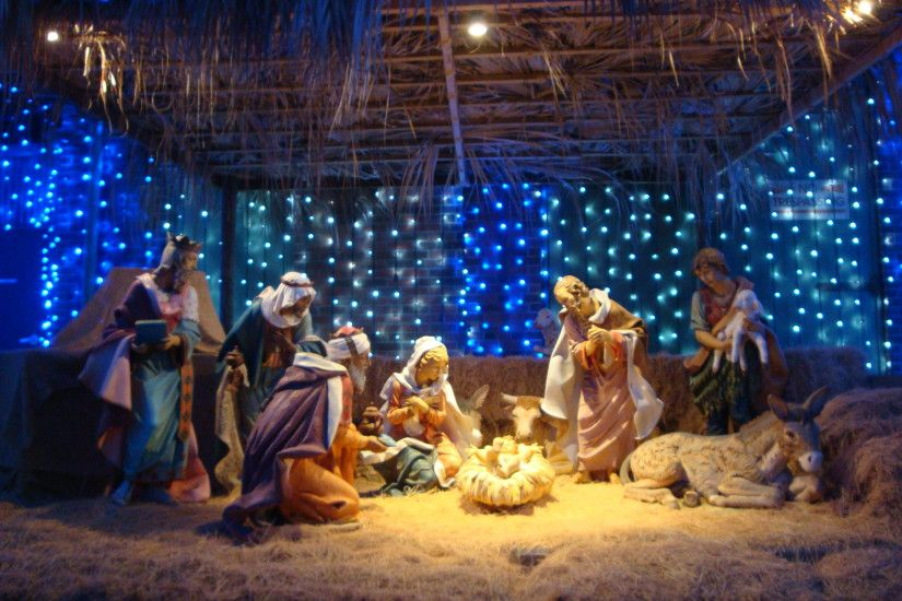 Advent Christmas Time Nativity Scene | BestWallSite.com