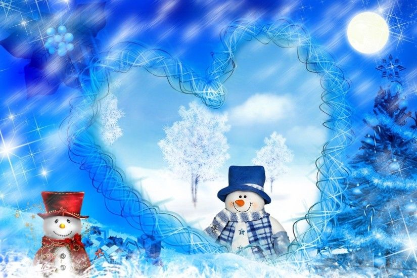 Heart Tag - Snowmans Christmas Dreams Firefox Persona Snowman Blue Heart  Trees Cute Snow Winter Whimsical