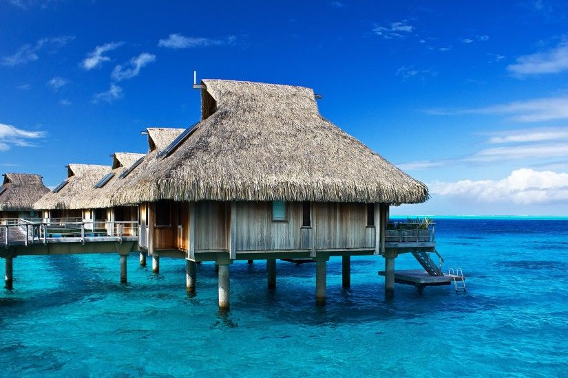 Wallpaper: Bora Bora Hilton Bungalows & Lagoon