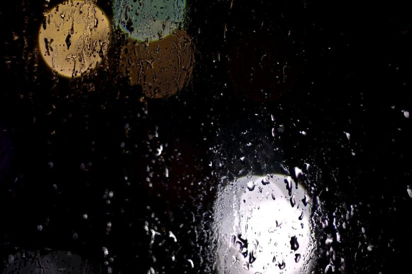 Blurred Background. Night City Lights Blur. Road View Through Window With  Rain Drops Stock Video Footage - VideoBlocks
