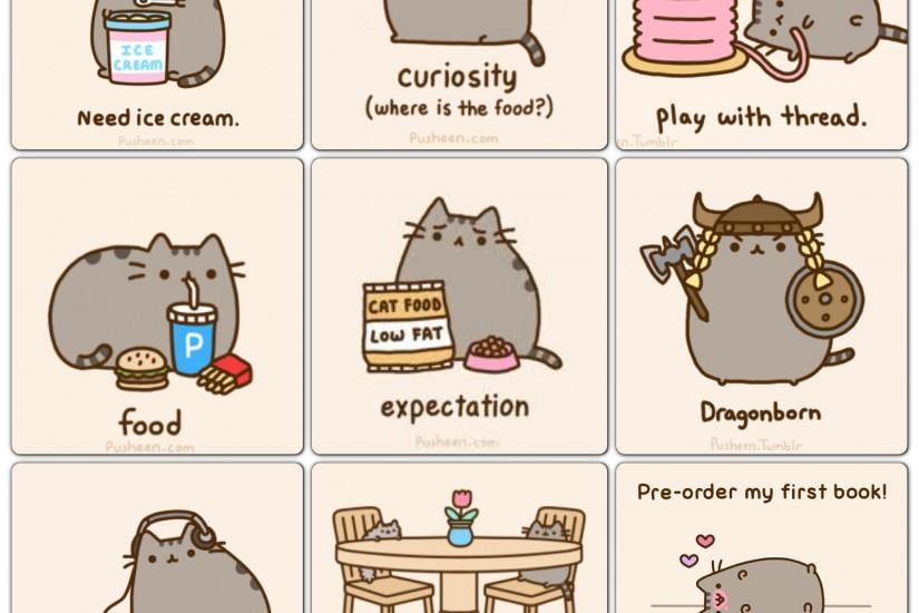 free download pusheen wallpaper 2048x2048 pictures