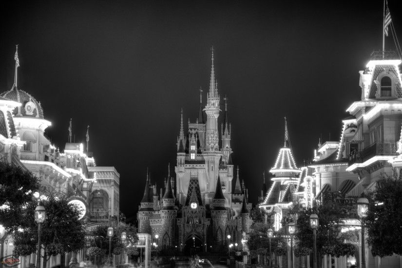 ... Blue Castle Wallpaper 3 - Black and White ...