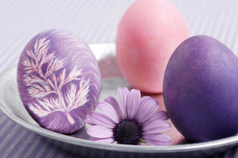 Pink and purple Easter eggs HD wallpapers