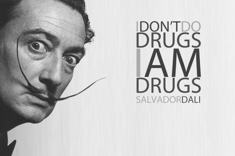 Salvador Dalí, Typography, Painters, Moustache Wallpapers HD / Desktop and  Mobile Backgrounds