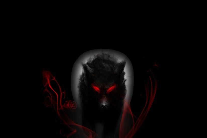 Wolf With Red Eyes HD wallpaper