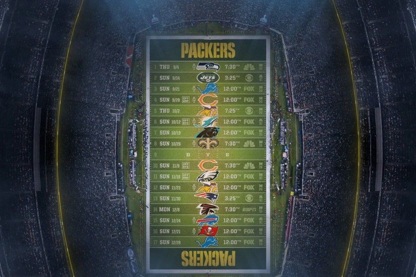 Packers Green Schedule