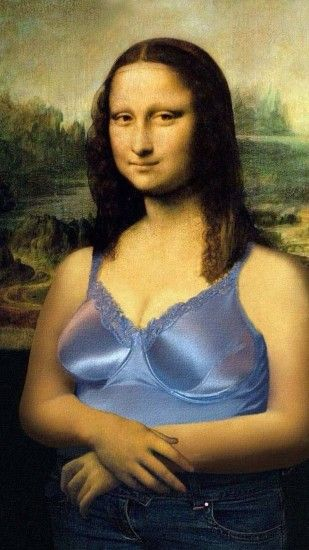 Click here to download 1080x1920 pixel Funny Mona Lisa Android Best  Wallpaper