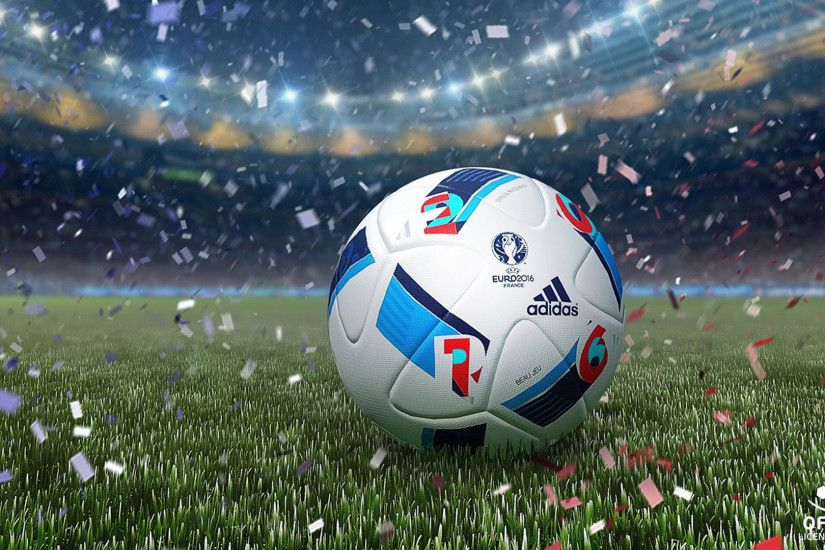 2500x1668 white red and blue Adidas soccer ball HD wallpaper