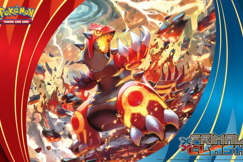 Pokémon TCG: <em>XY—Primal Clash</em> Primal Groudon. Wallpaper