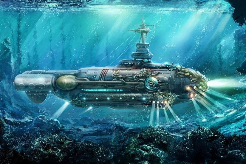 Steampunk Submarine Nautilus Wallpaper At Fantasy Wallpapers