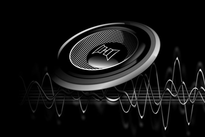 Cool Music Speakers Wide Full HD Wallpaper