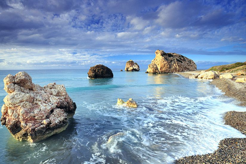 Sunny Shores Cyprus Wide Desktop Background HD wallpapers