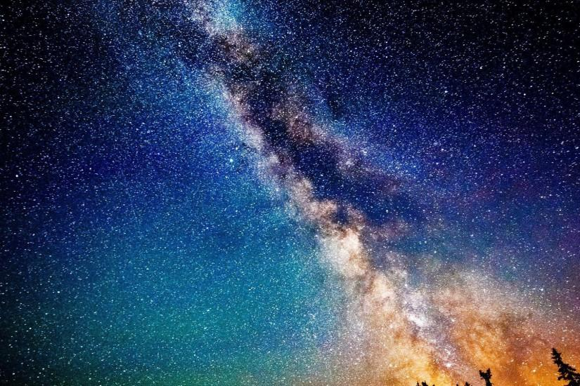 Outer space cosmos milky way
