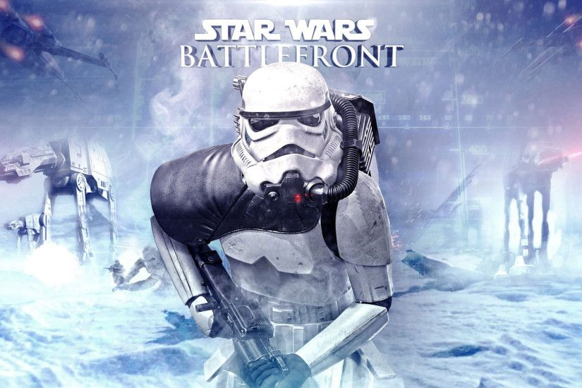 AT-ATs and stormtrooper in Star Wars Battlefront wallpaper 1920x1080 jpg