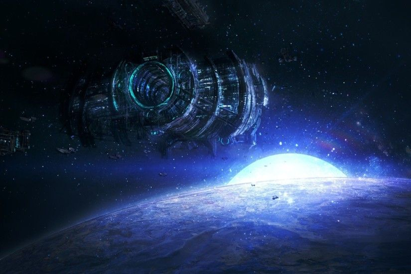 Sci Fi Space Station Cool Wallpapers
