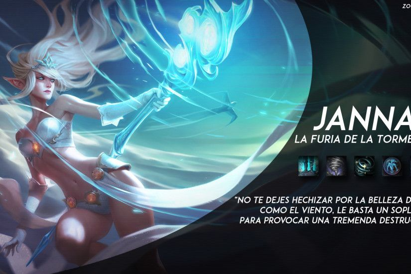 ... Janna Wallpaper League Of Legends by ZocketDarck on DeviantArt