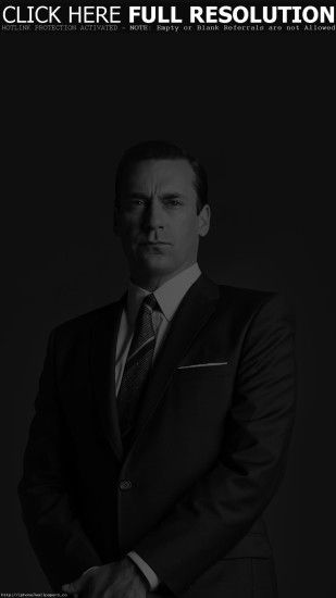 Jon Hamn Mad Men Film Actor Dark Bw Android wallpaper - Android HD  wallpapers