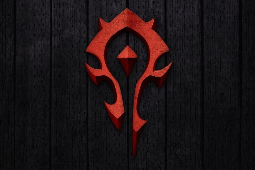Preview wallpaper world of warcraft, horde, symbol, background, red  3840x2160