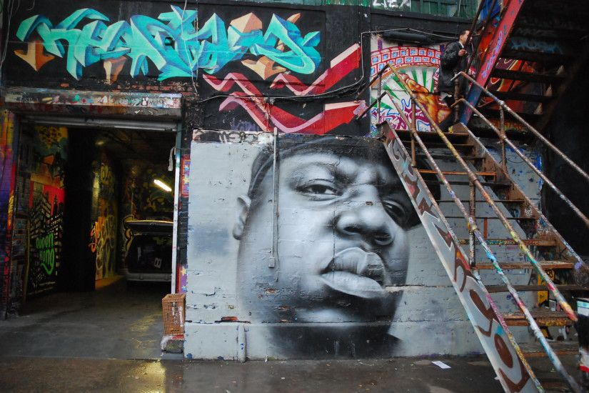 ... Gangster Graffiti Hd Pics Biggie Smalls Rap Gangsta Graffiti F Hd  Wallpaper 1060533