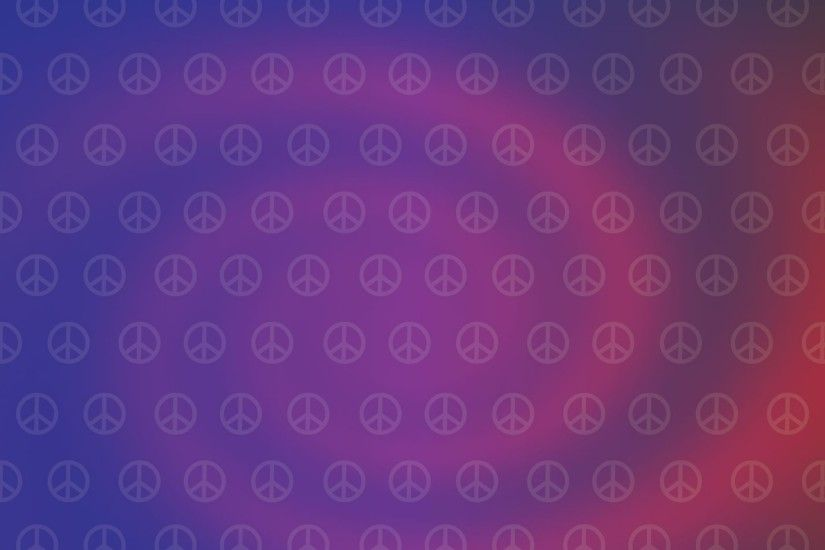 2560x1440 Wallpaper hippies, picture, sign, peace, purple