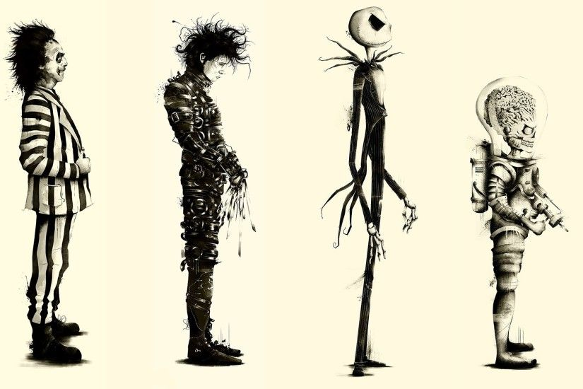 Tim Burton, Movies, Beetlejuice, Fan Art, Edward Scissorhands, Mars Attacks  Wallpapers HD / Desktop and Mobile Backgrounds
