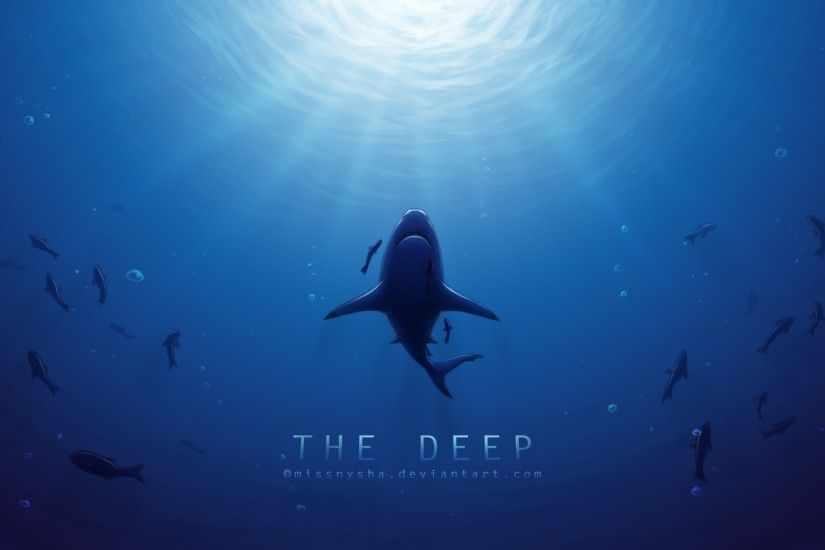 deep sea sharp wallpaper background