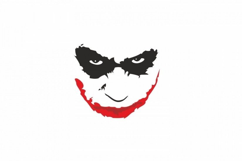 1920x1080 Wallpaper heath ledger, smiling, white background, joker