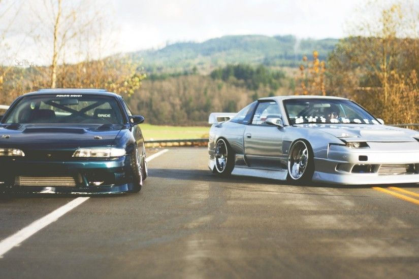 nissan 180sx silvia s14 zenki jdm together