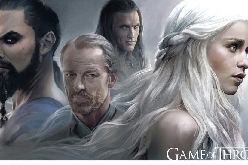 1920x1080 Wallpaper game of thrones, emilia clarke, daenerys targaryen, khal  drogo, jason