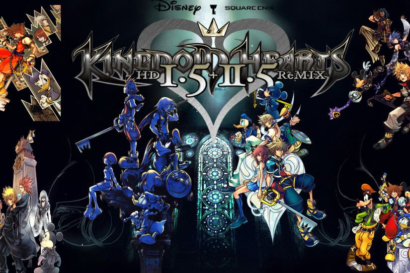 Kingdom Hearts HD Wallpapers Wallpaper Cave Source · Kingdom Hearts 1 5 2 5  HD Remix Wallpaper by The Dark Mamba 995