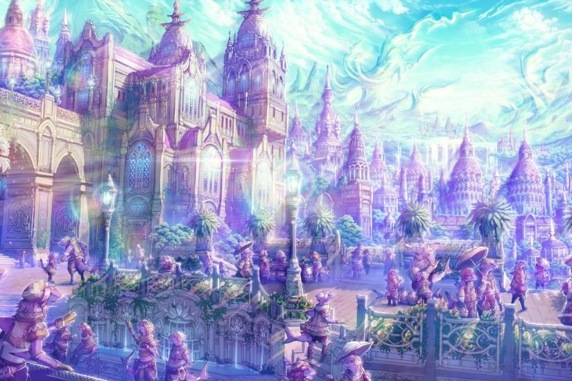 Anime artistic cities fantasy soft castles landscapes places magical  wallpaper | 1920x1080 | 23877 | WallpaperUP