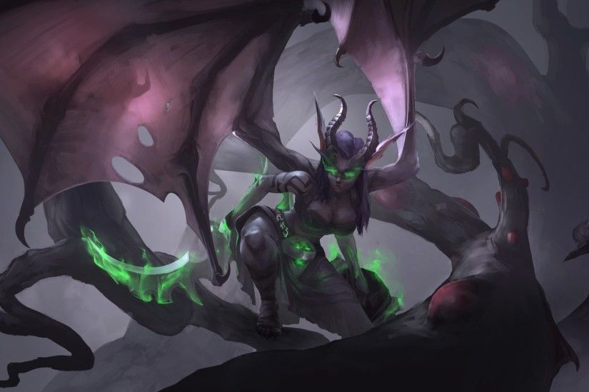 General 1920x1080 fantasy art demoness Demon Hunter World of Warcraft video  games