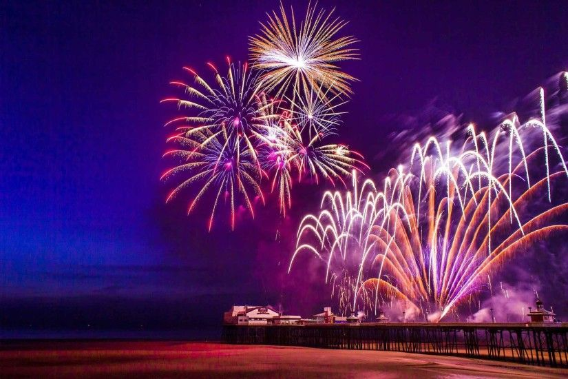 Sky Fire Fireworks Firework Light Night 3D Nature Wallpaper Background