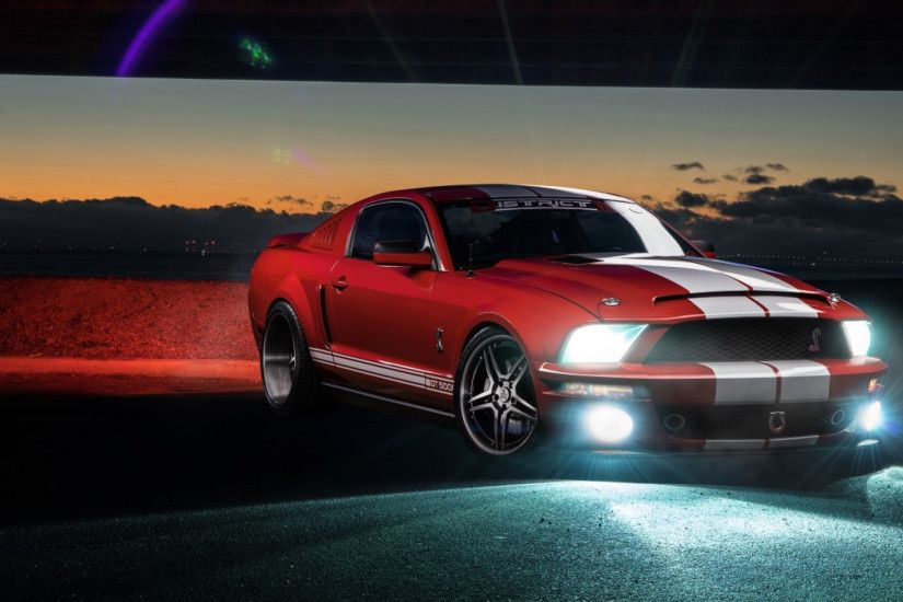 2560x1080 Wallpaper ford mustang, shelby, gt500