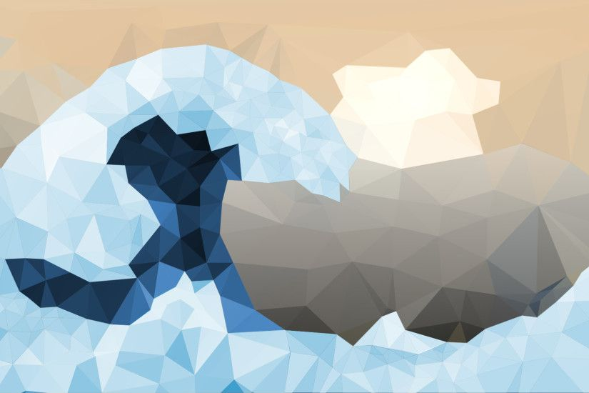 Low-Poly: The Great Wave off Kanagawa ...