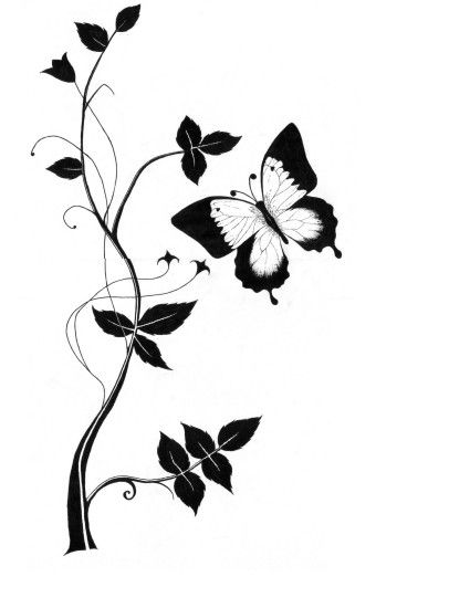 Cute Butterfly Line Drawing #1456702