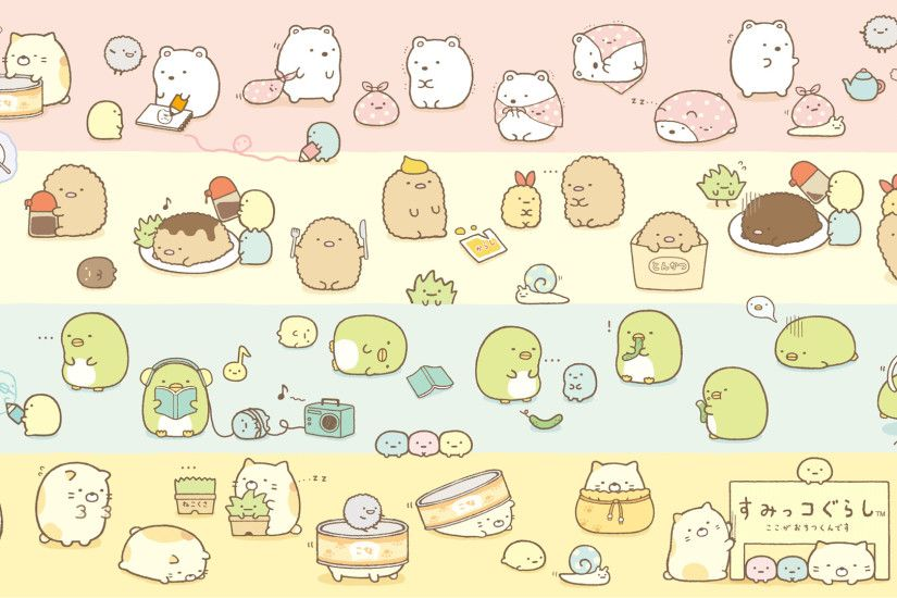 """Sumikkogurashi"" (すみっコぐらし) wallpaper from San-X 