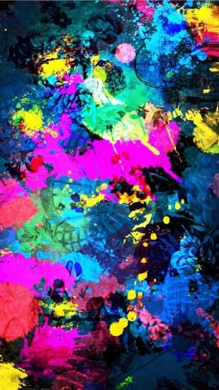 Tap image for more beautiful iPhone background! Colorful Splatter Splash -  @mobile9 | Wallpapers