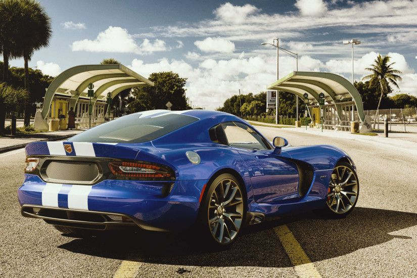 blue dodge viper gts uhd 4k wallpaper