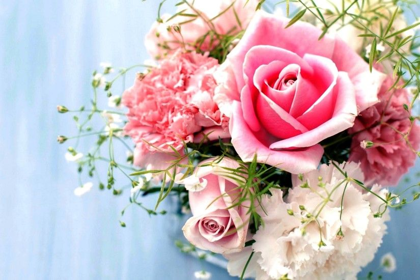 Flowers For > White And Pink Roses Wallpaper