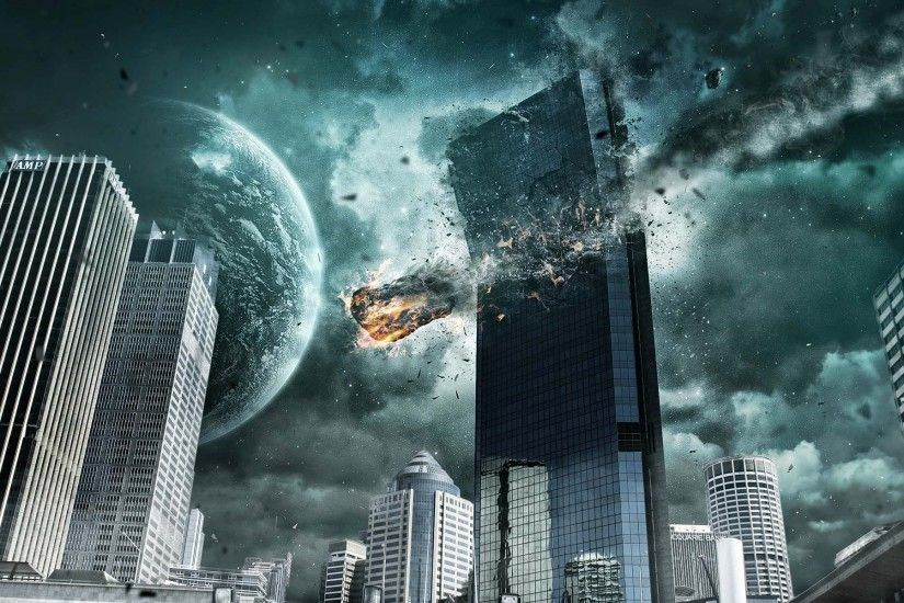 City Destroyed By Aliens | HD Dreamy and Fantasy Wallpaper Free Download ...