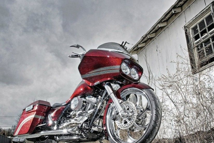 1920x1080 Wallpaper bike, red, street, style