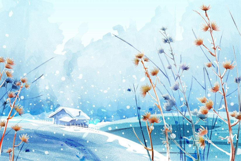 Anime Winter Scenery Wallpapers Phone