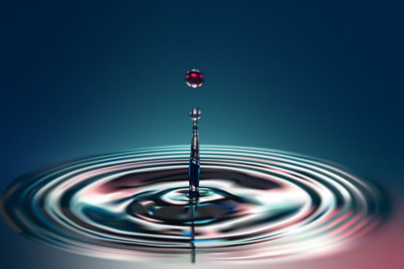 CGI - Water Drop Wallpaper
