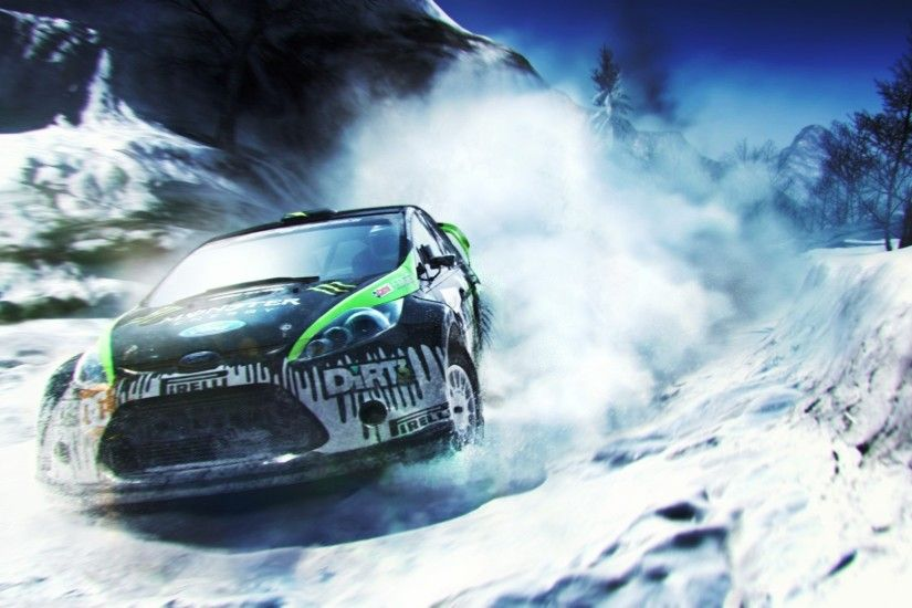 Ford Rally Car Snow HD Wallpaper