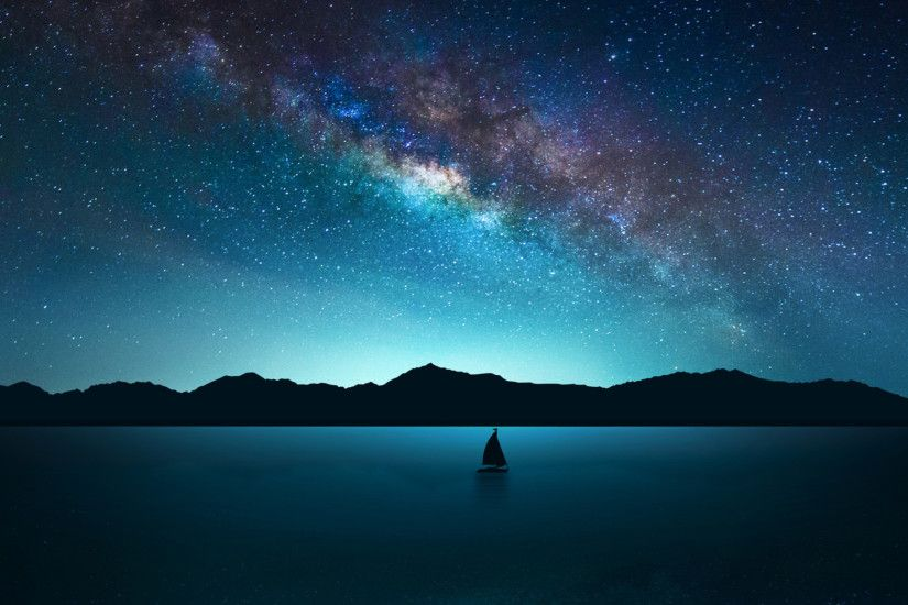 Night Sky Wallpaper Hd High resolution starry night sky background #7047